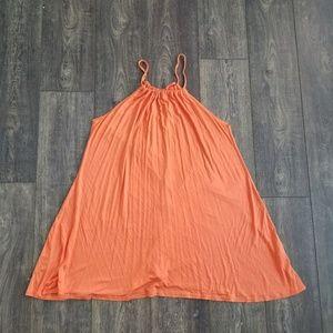 Boohoo Orange Shift Sleeveless Dress- size 10